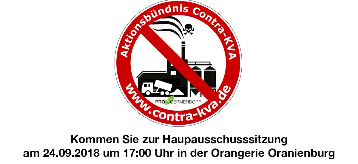 Kommen Sie zur Hauptausschusssitzung am 24.09. 17:00 Orangerie Oranienburg